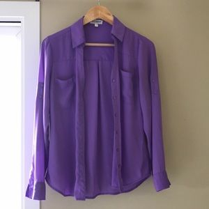 Purple blouse from express